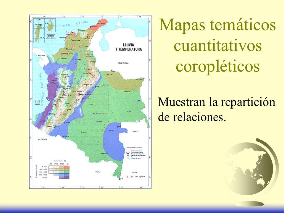 Mapas temáticos cuantitativos coropléticos