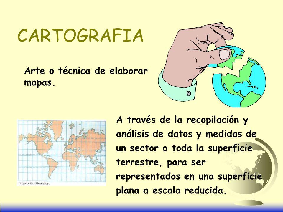 CARTOGRAFIA Arte o técnica de elaborar mapas.
