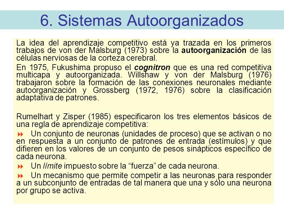 6. Sistemas Autoorganizados