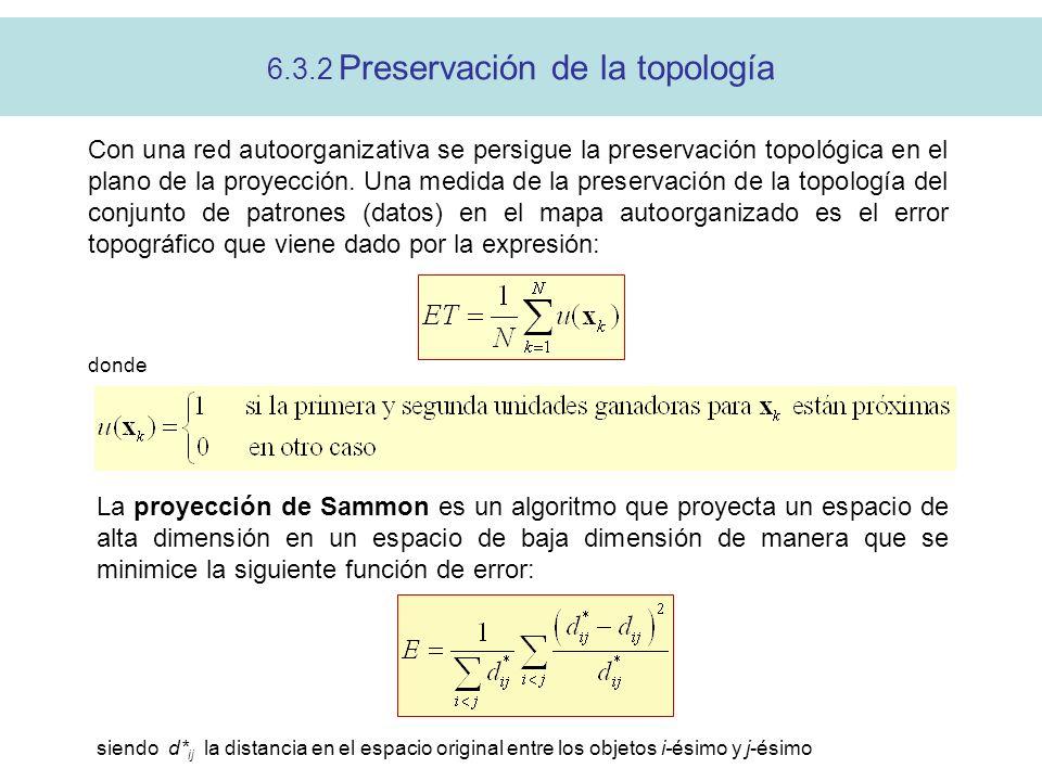 6.3.2 Preservación de la topología