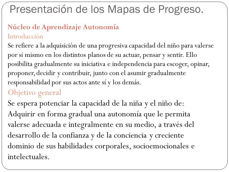 Presentación de los Mapas de Progreso.