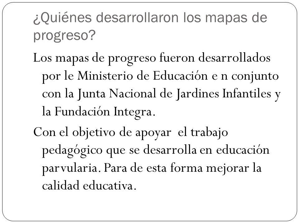 ¿Quiénes desarrollaron los mapas de progreso