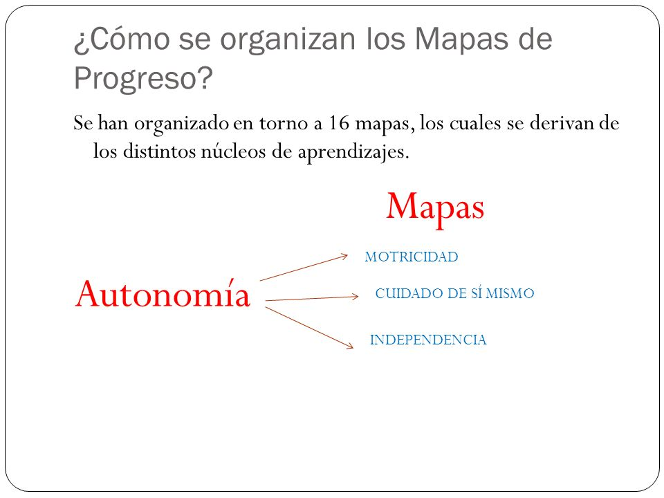 ¿Cómo se organizan los Mapas de Progreso