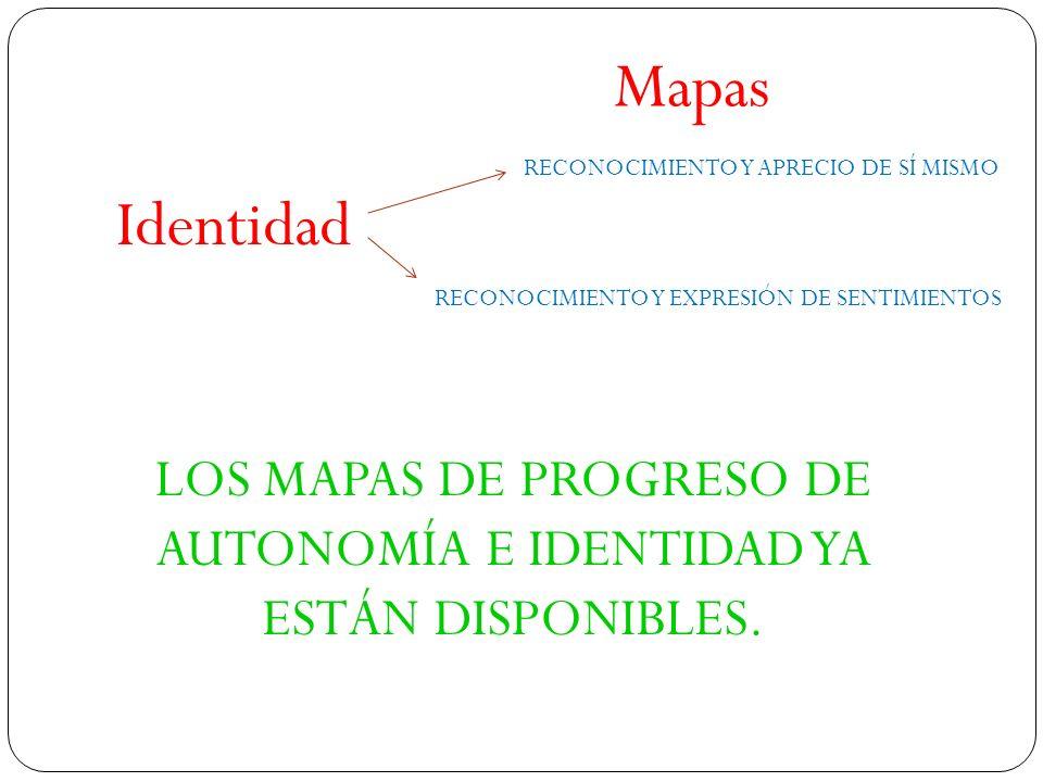 LOS MAPAS DE PROGRESO DE AUTONOMÍA E IDENTIDAD YA ESTÁN DISPONIBLES.