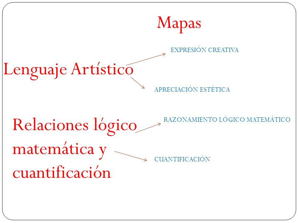 Relaciones lógico matemática y cuantificación
