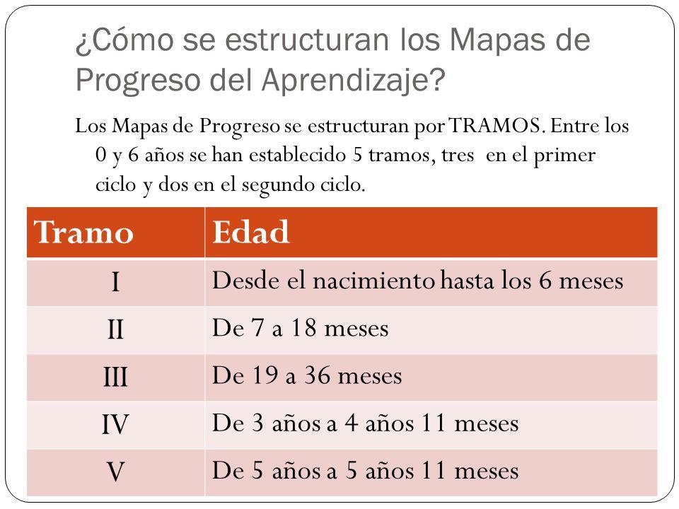 ¿Cómo se estructuran los Mapas de Progreso del Aprendizaje