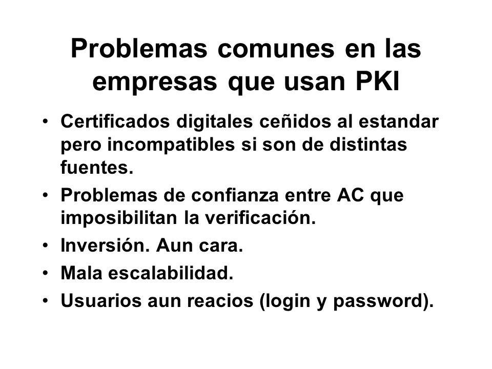 Problemas comunes en las empresas que usan PKI