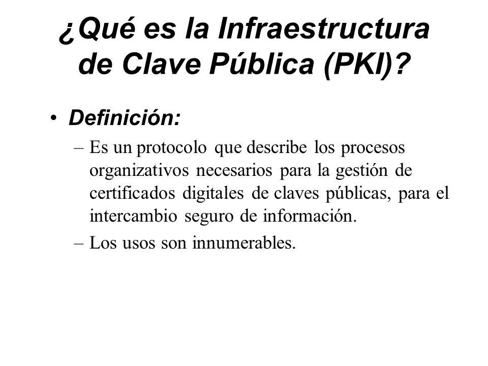 ¿Qué es la Infraestructura de Clave Pública (PKI)