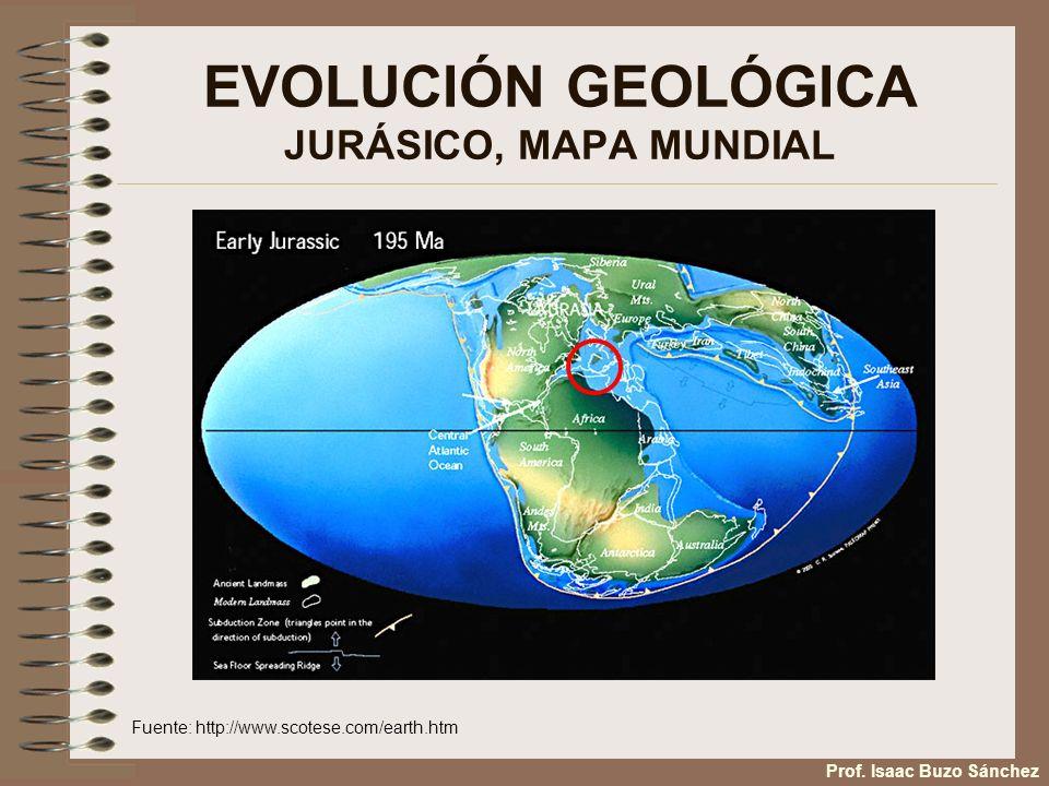 EVOLUCIÓN GEOLÓGICA JURÁSICO, MAPA MUNDIAL