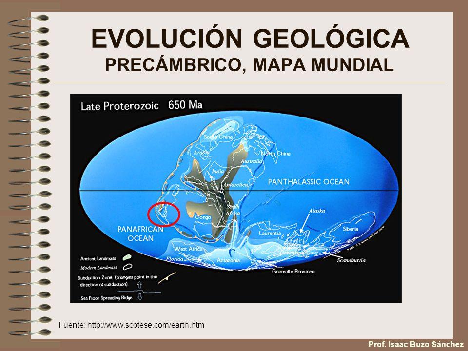 EVOLUCIÓN GEOLÓGICA PRECÁMBRICO, MAPA MUNDIAL