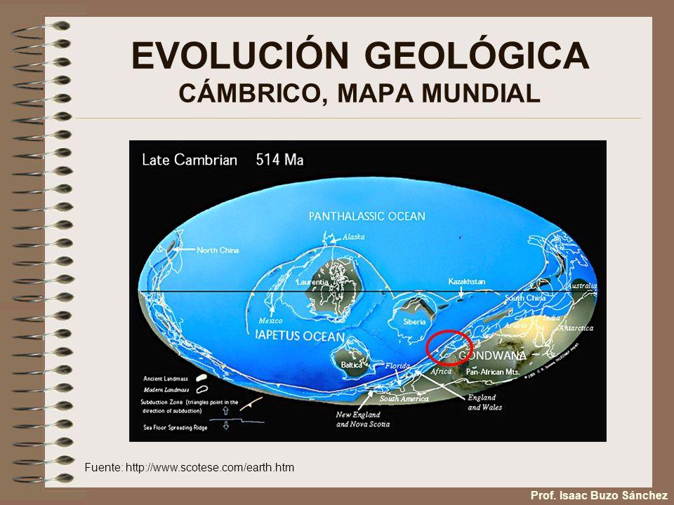EVOLUCIÓN GEOLÓGICA CÁMBRICO, MAPA MUNDIAL
