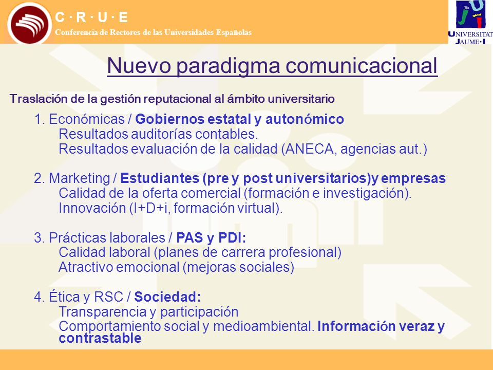 Nuevo paradigma comunicacional