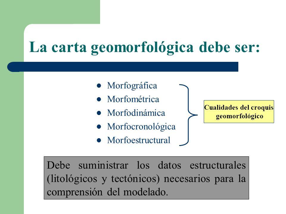 La carta geomorfológica debe ser: