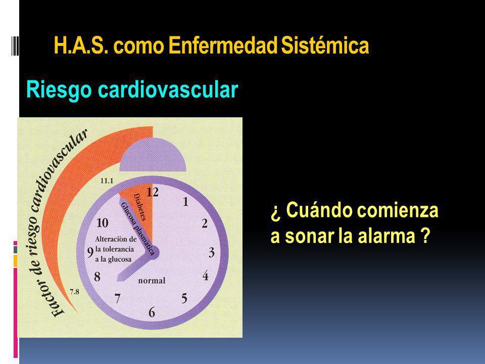 H.A.S. como Enfermedad Sistémica