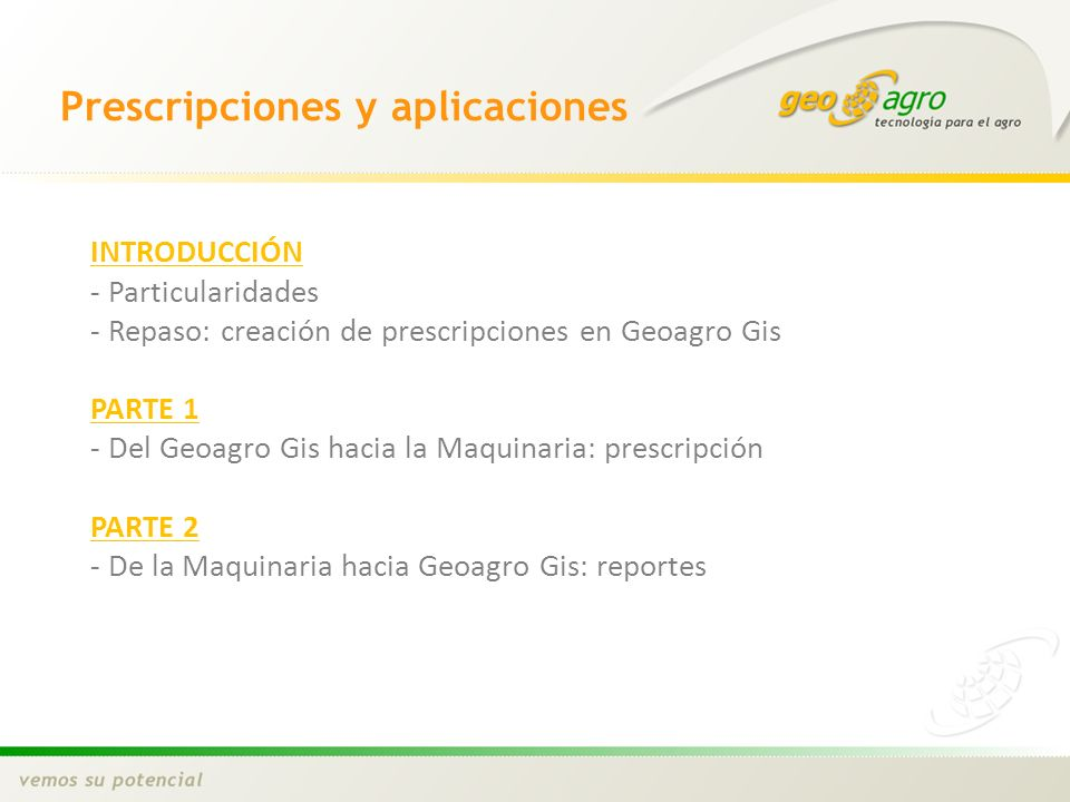 Prescripciones y aplicaciones