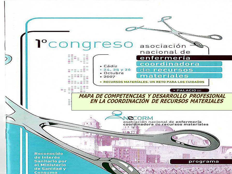 MAPA DE COMPETENCIAS Y DESARROLLO PROFESIONAL EN LA COORDINACIÓN DE RECURSOS MATERIALES