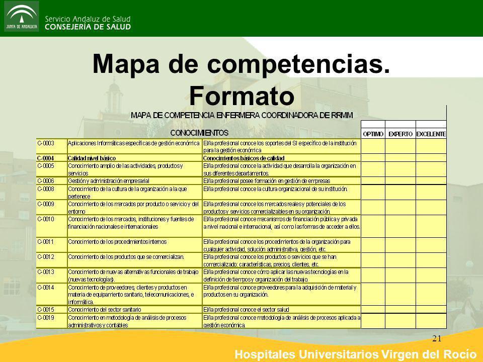 Mapa de competencias. Formato