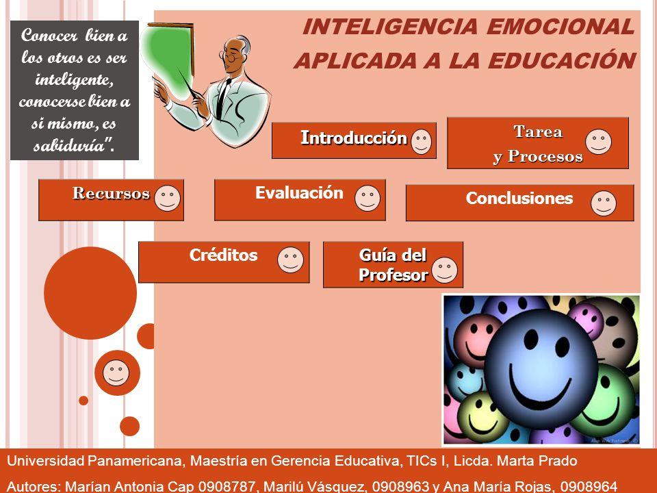 INTELIGENCIA EMOCIONAL APLICADA A LA EDUCACIÓN
