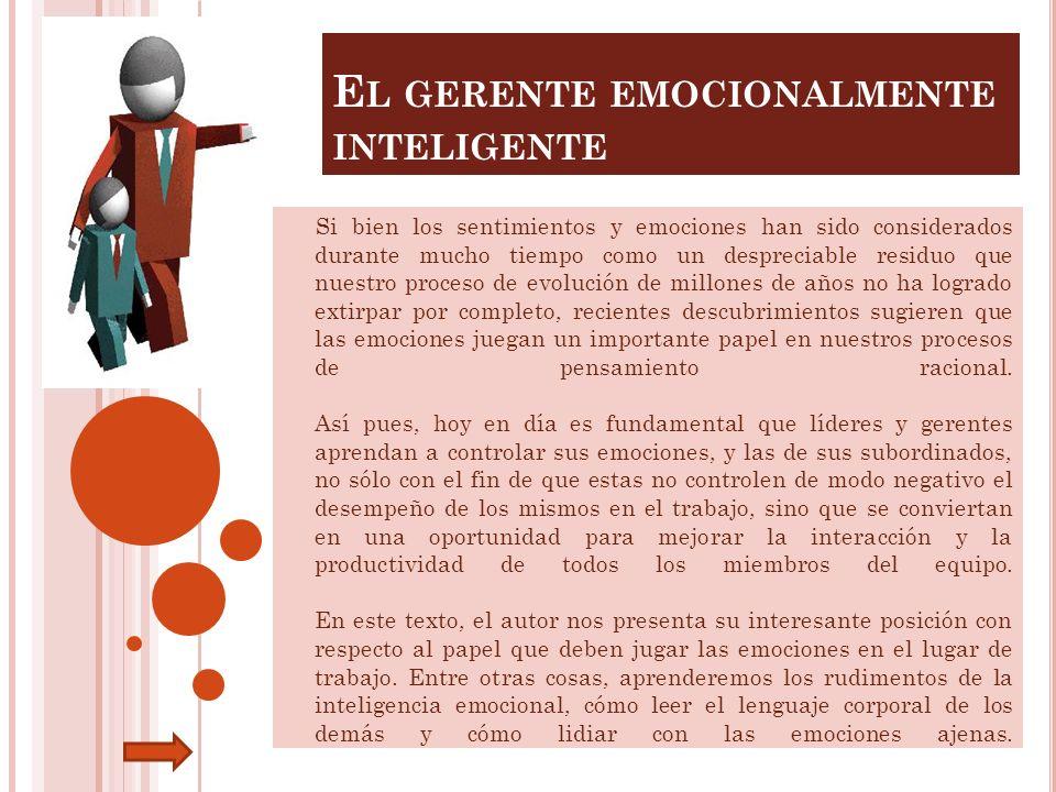 El gerente emocionalmente inteligente