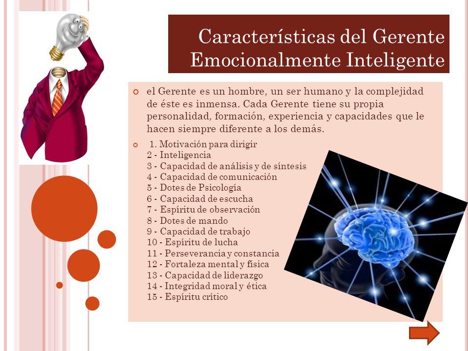Características del Gerente Emocionalmente Inteligente