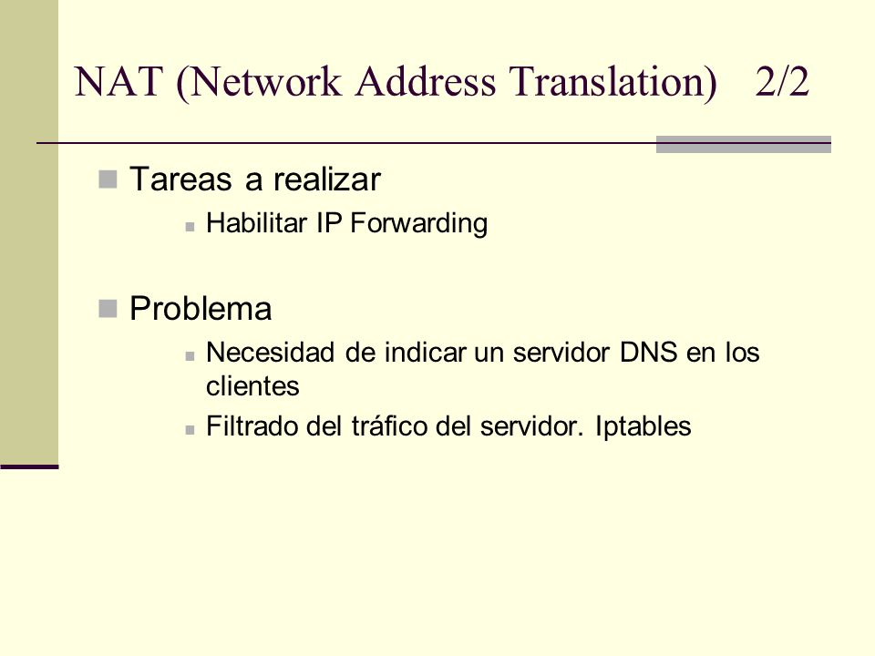 NAT (Network Address Translation) 2/2