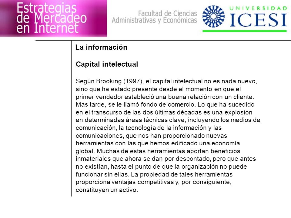 La información Capital intelectual