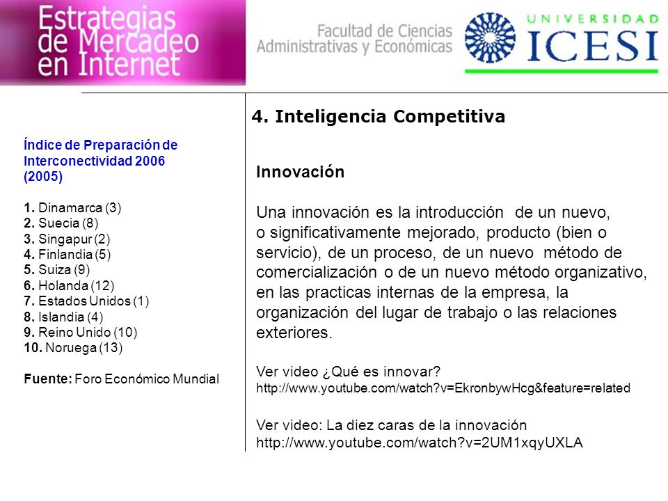 4. Inteligencia Competitiva