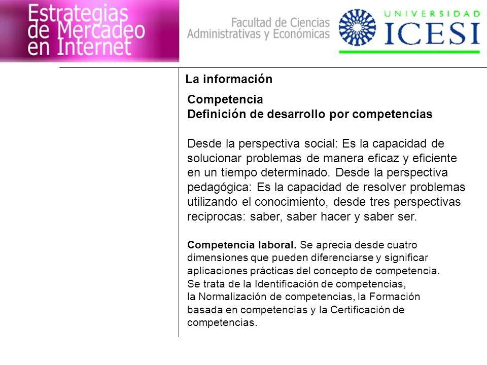 Definición de desarrollo por competencias