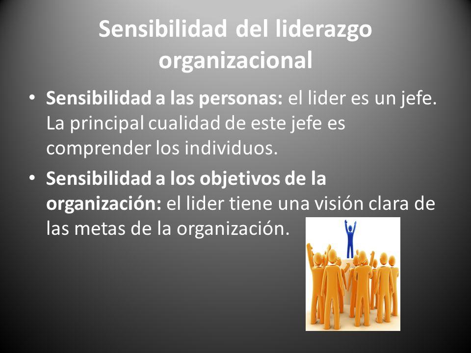 Sensibilidad del liderazgo organizacional