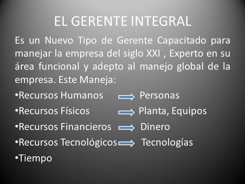 EL GERENTE INTEGRAL