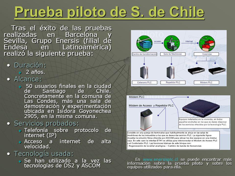 Prueba piloto de S. de Chile