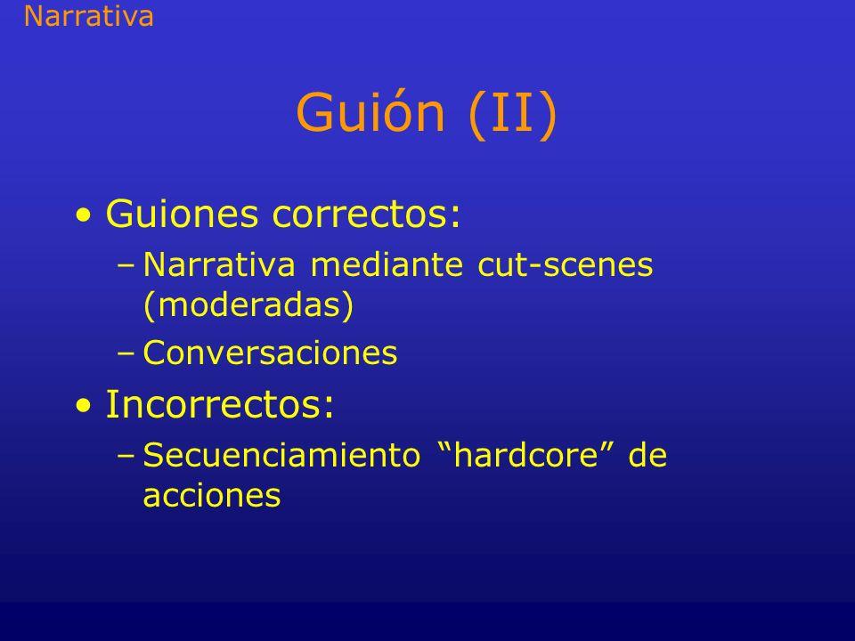 Guión (II) Guiones correctos: Incorrectos: