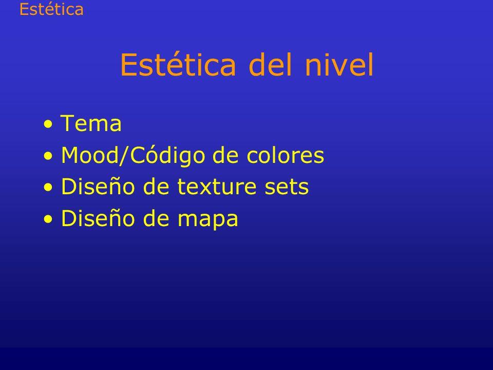 Estética del nivel Tema Mood/Código de colores Diseño de texture sets