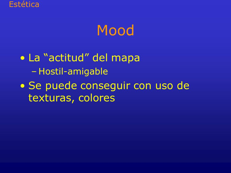 Mood La actitud del mapa
