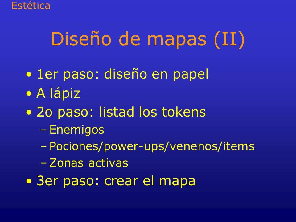Diseño de mapas (II) 1er paso: diseño en papel A lápiz