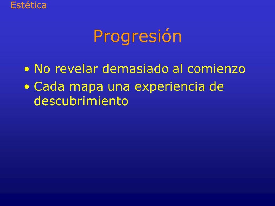 Progresión No revelar demasiado al comienzo