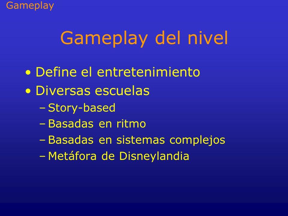 Gameplay del nivel Define el entretenimiento Diversas escuelas