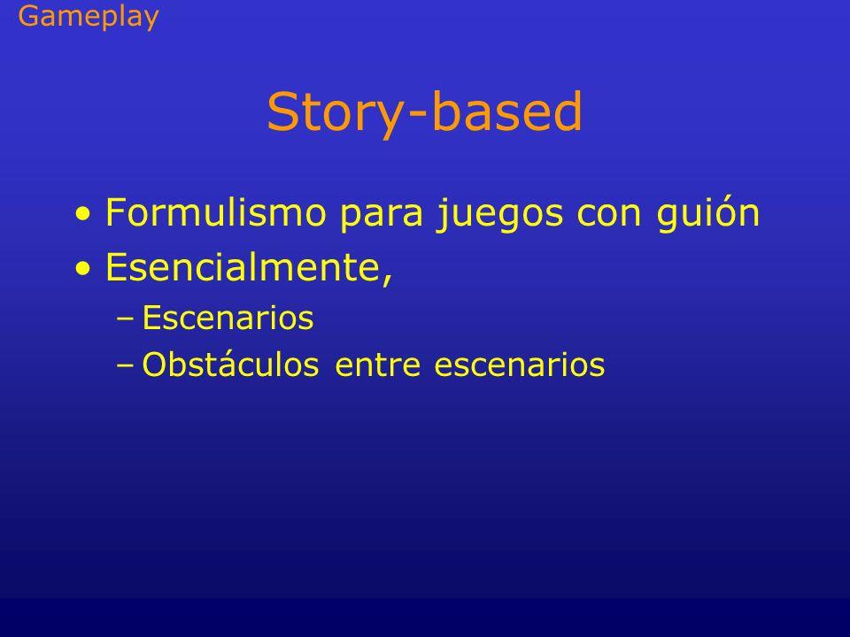 Story-based Formulismo para juegos con guión Esencialmente, Escenarios