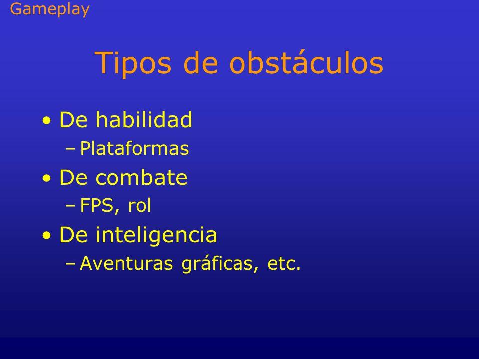 Tipos de obstáculos De habilidad De combate De inteligencia