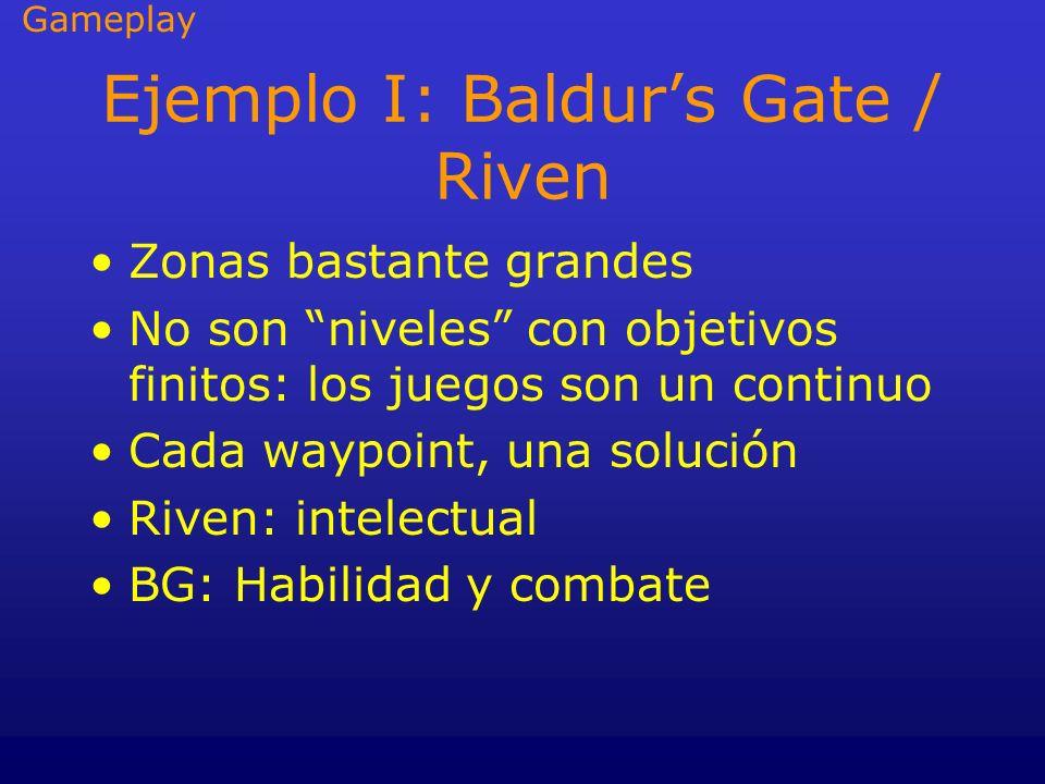 Ejemplo I: Baldur's Gate / Riven