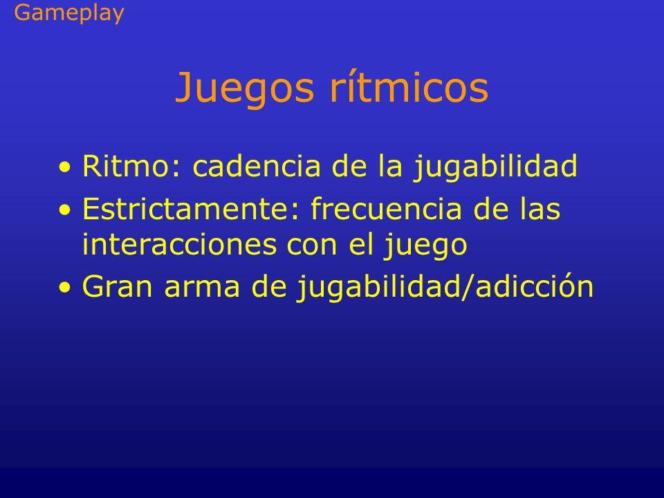 Juegos rítmicos Ritmo: cadencia de la jugabilidad
