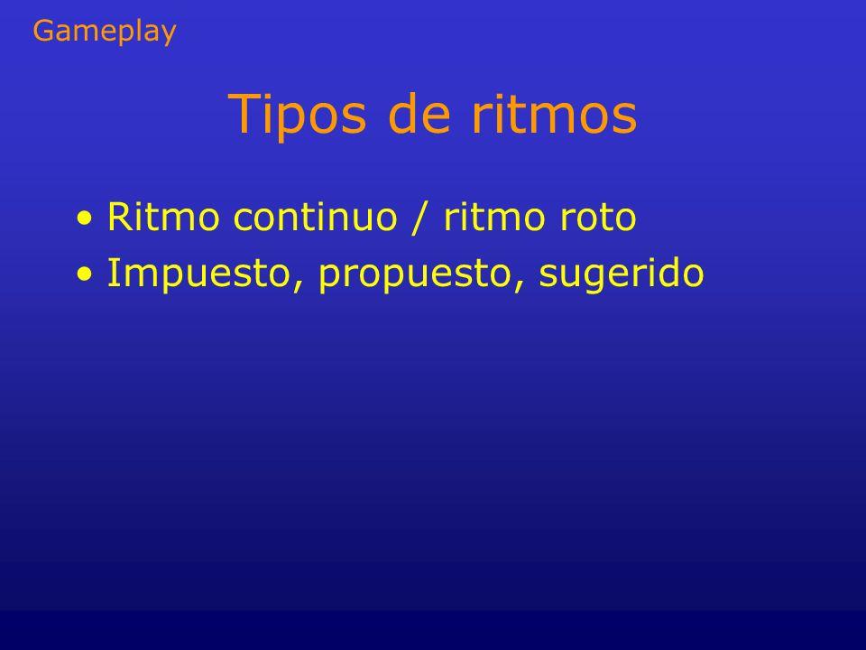 Tipos de ritmos Ritmo continuo / ritmo roto