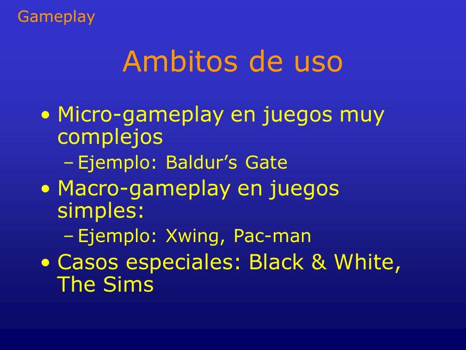 Ambitos de uso Micro-gameplay en juegos muy complejos