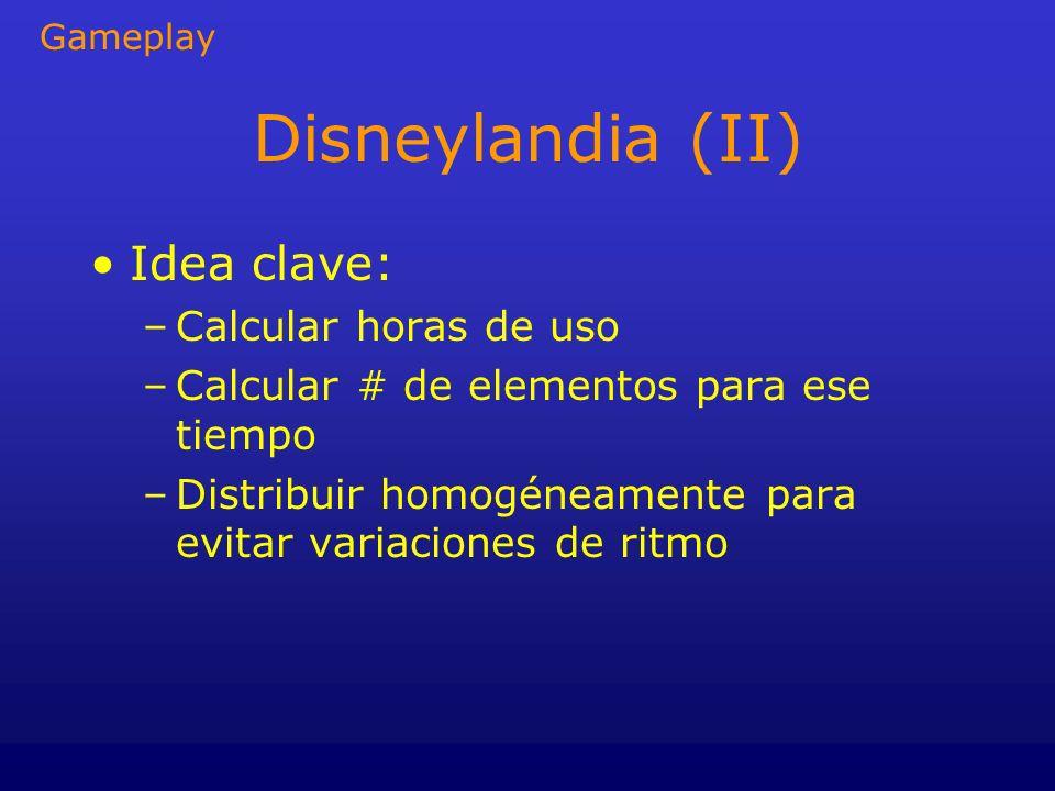 Disneylandia (II) Idea clave: Calcular horas de uso