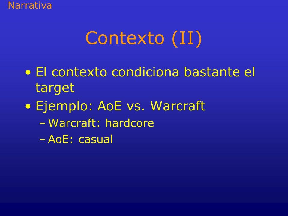 Contexto (II) El contexto condiciona bastante el target