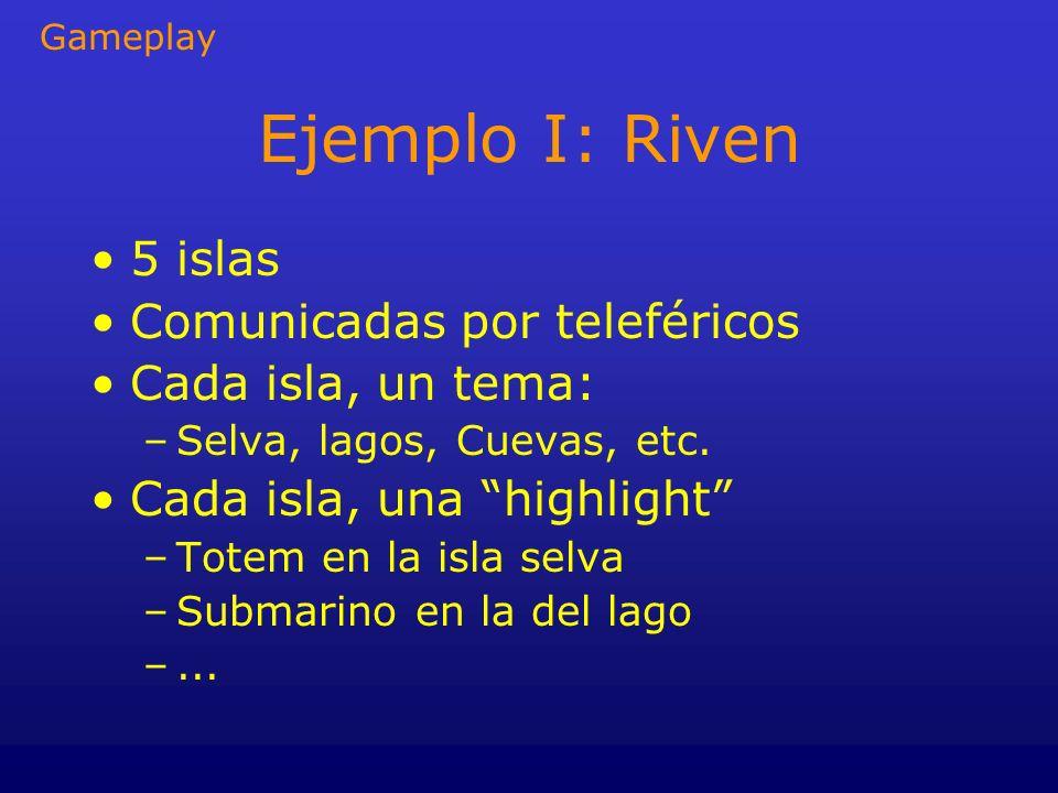 Ejemplo I: Riven 5 islas Comunicadas por teleféricos