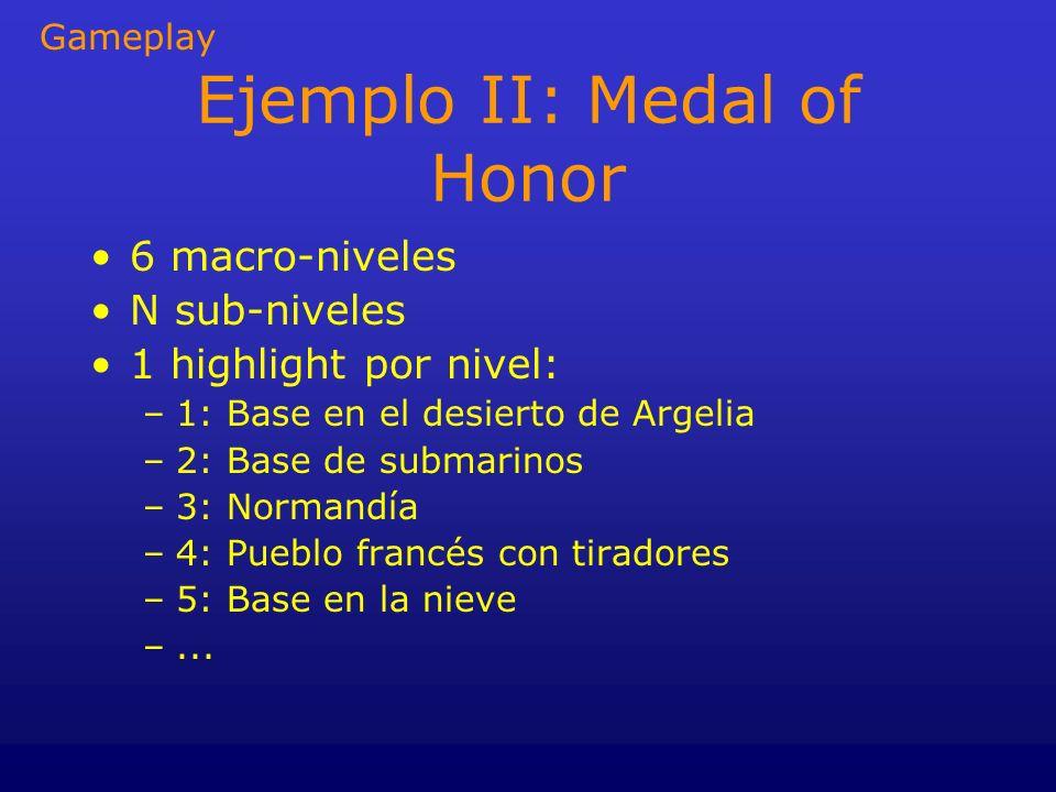 Ejemplo II: Medal of Honor