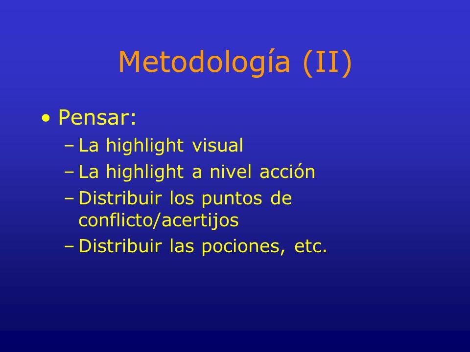 Metodología (II) Pensar: La highlight visual