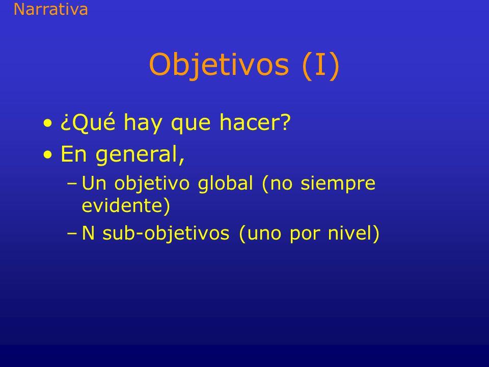 Objetivos (I) ¿Qué hay que hacer En general,