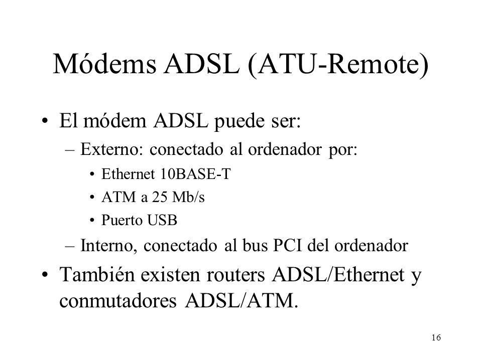 Módems ADSL (ATU-Remote)